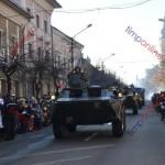 Ceremonial, paradă militară cu tehnică de luptă şi retragere cu torţe de 1 Decembrie la Bistriţa